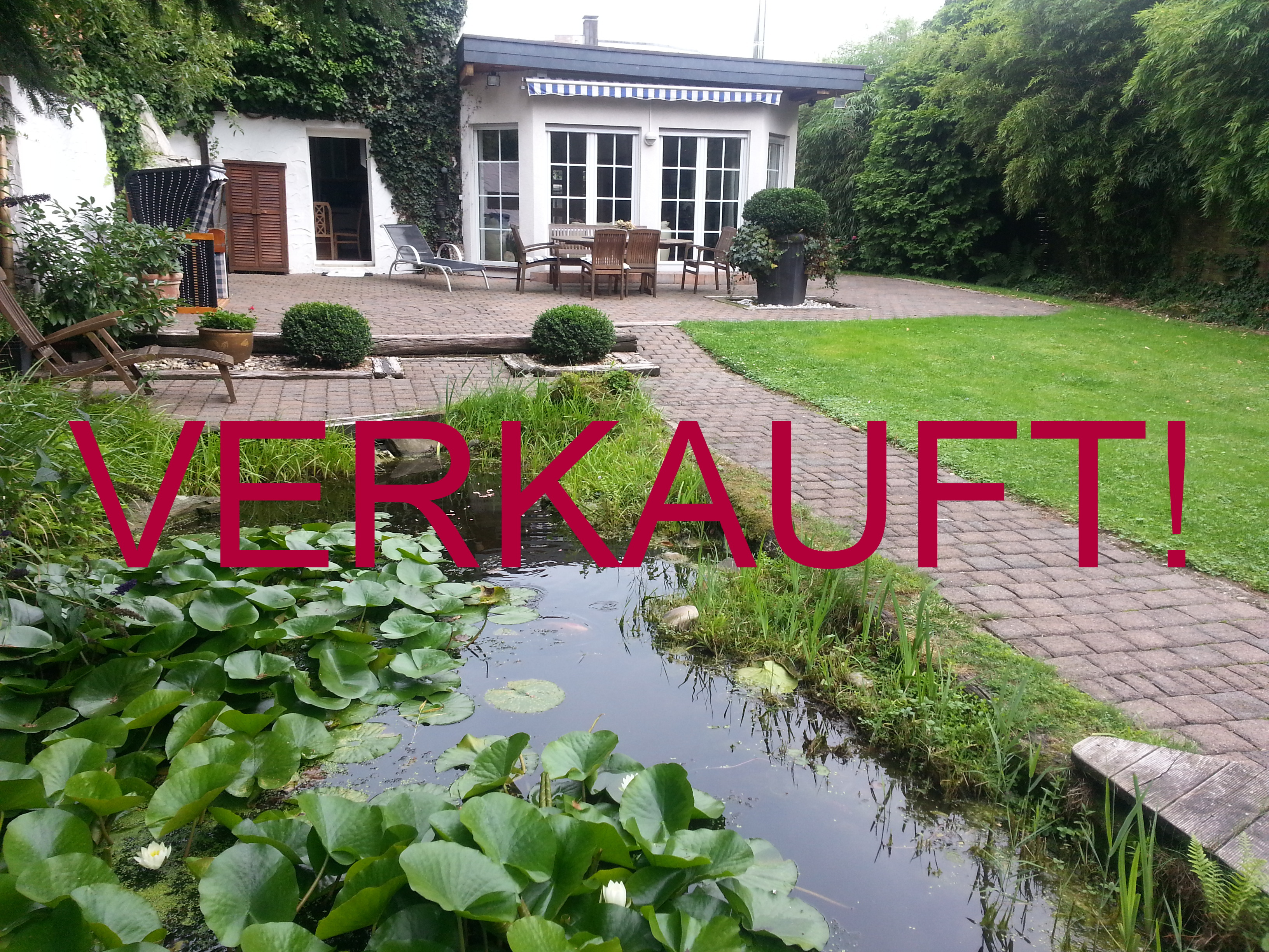 VERKAUFT!!! Ein-Zweifamilienhaus mit wunderschönem, parkähnlichem Gartengrundstück und Garage in Stockum