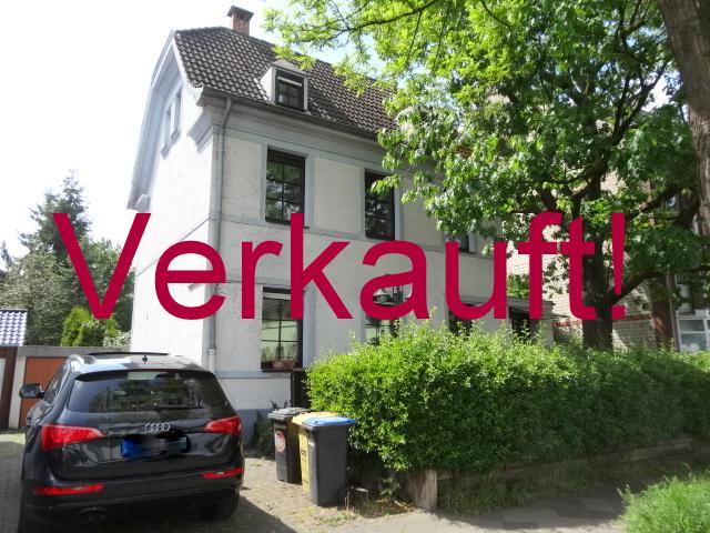 VERKAUFT! Einmaliges Traumangebot: Freistehende Stadtvilla mit Altbau-Charme und parkähnlichem Grundstück + Garage in bester Lage Ellers