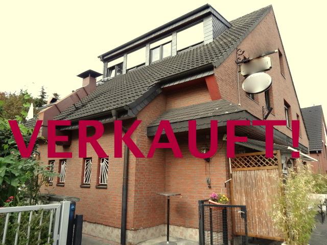 VERKAUFT! Wohn- u. Geschäftshaus (Doppelhaushälfte) mit Garten, Dachterrasse u. Garage in Unterrath/Nähe Vogelsiedlung