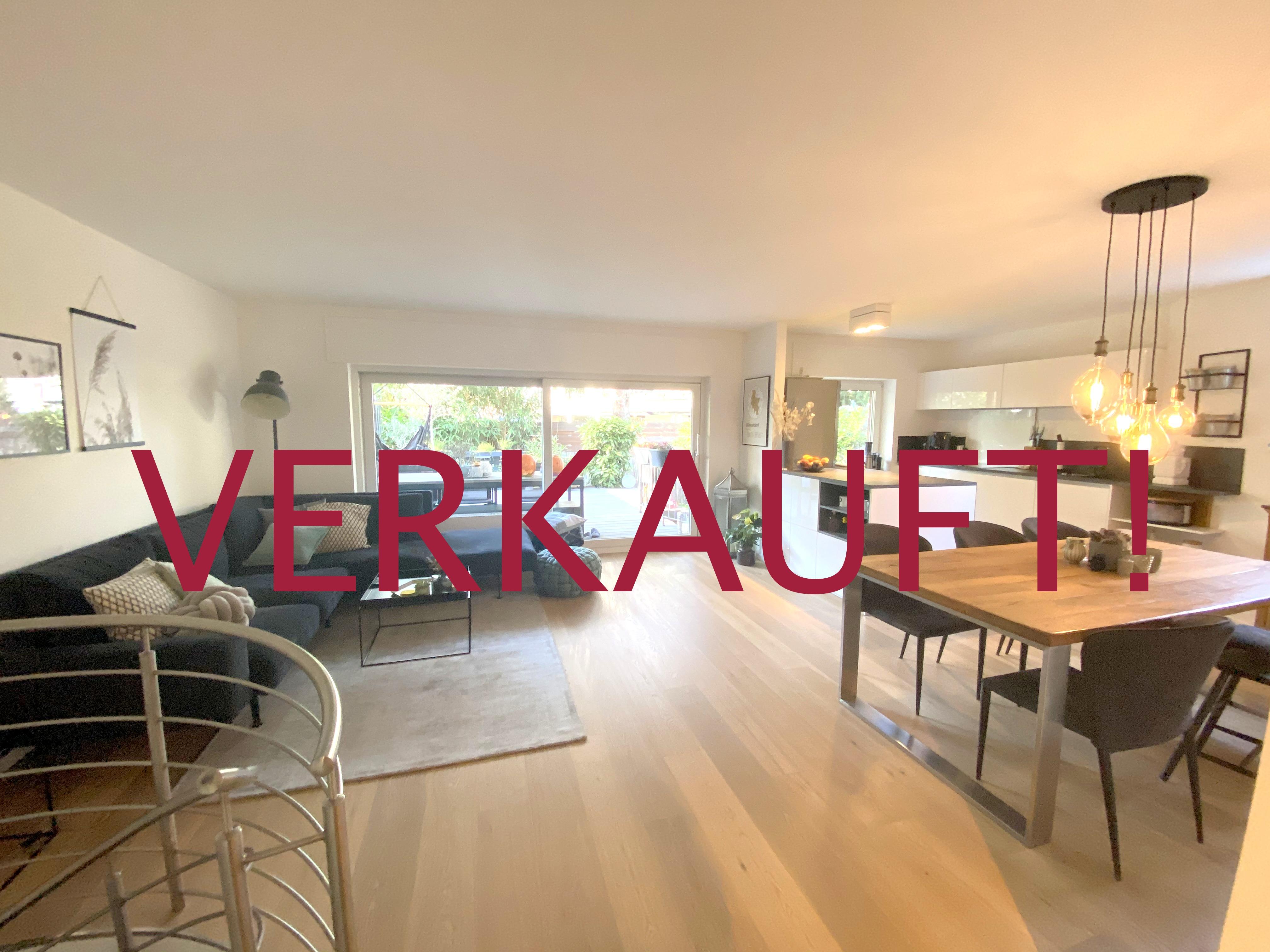 VERKAUFT! Wunderschöne Maisonette-Wohnung mit Terrasse, Garten+Tiefgaragenstellplatz in Lohausen/Grenze Kaiserswerth