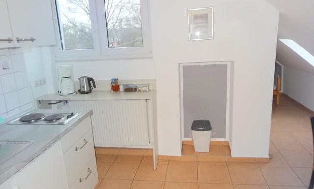 Küche Spitzboden.